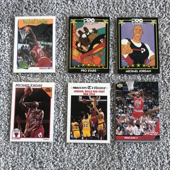 6 Michael Jordan basketball cards